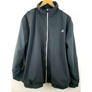 Russell Athletic Track Jacket Windbreaker Gray